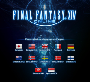 Final Fantasy XIV- language