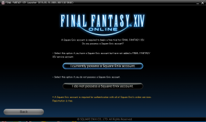 Final Fantasy XIV- select account