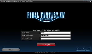 Final Fantasy XIV- login