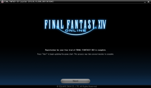 Final Fantasy XIV- registration complete