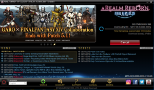 Final Fantasy XIV- downlaod begin