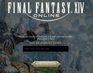 Final Fantasy XIV-8 digit code