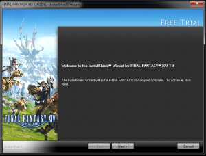 .Final Fantasy XIV install wizard