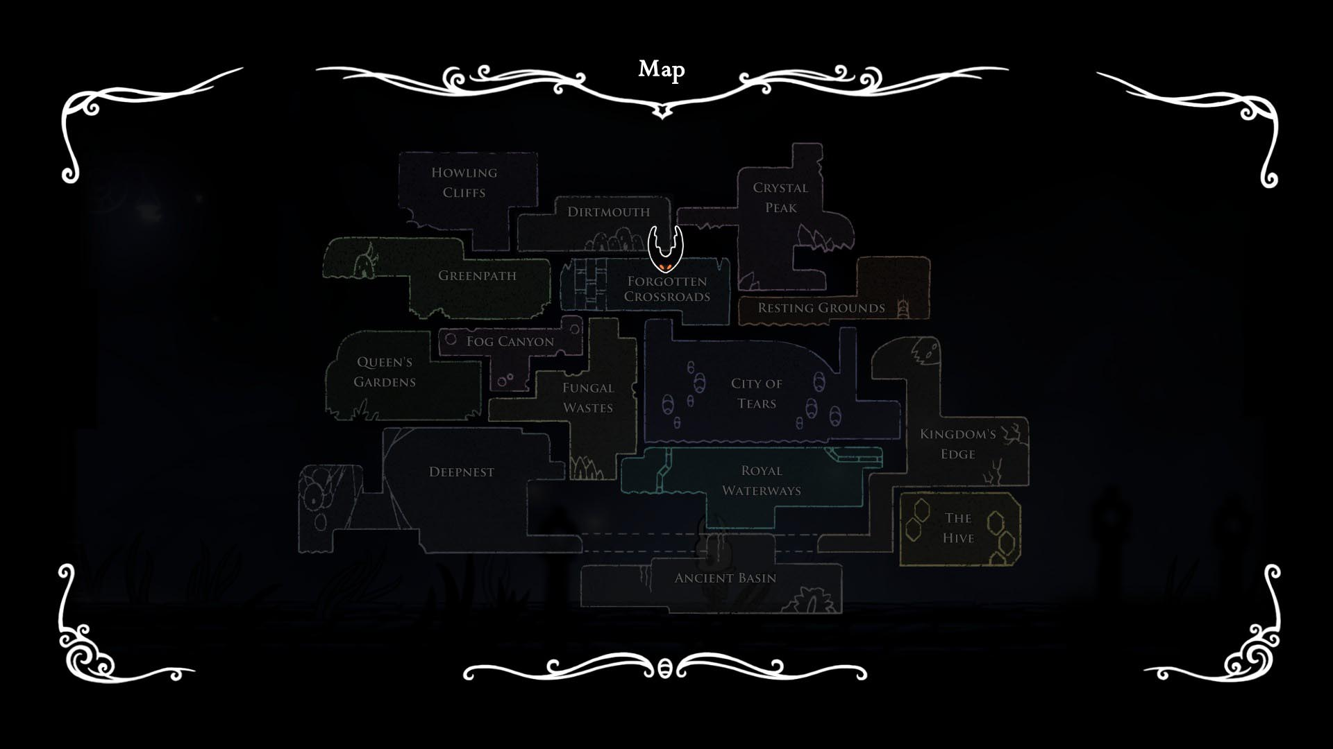 Hollow Knight Map-All MAps