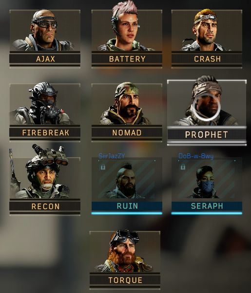 Call of Duty Black Ops 4 Specialists