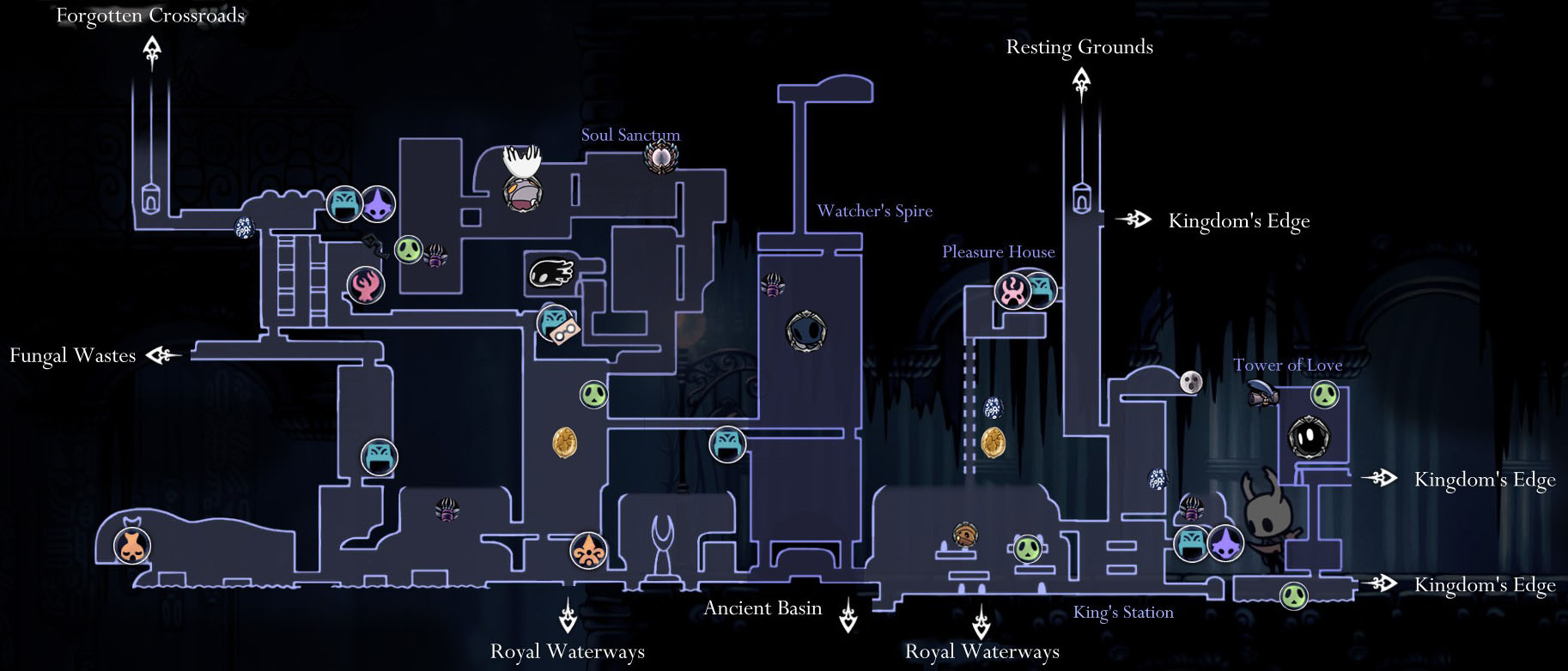 Hollow Knight Map-City of Tears