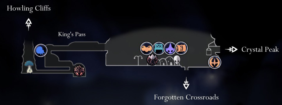 Hollow Knight Map- Dirtmouth