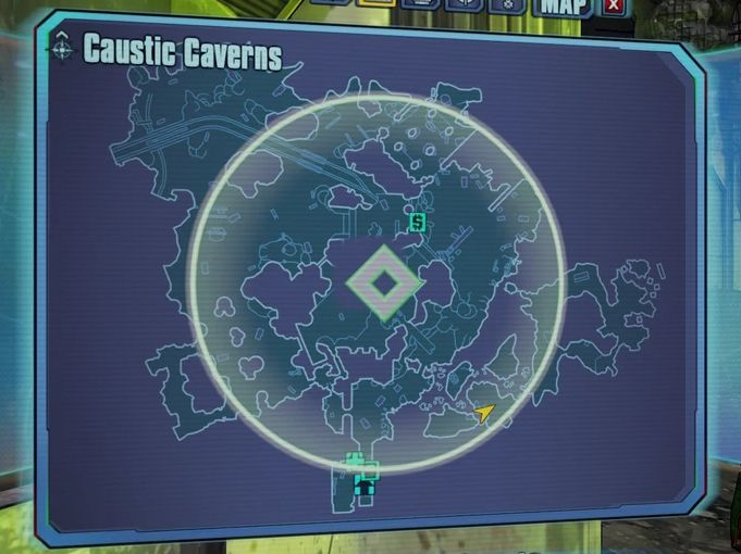 Borderlands 2 The Lost Treasure-map Under the acid-soaked railway