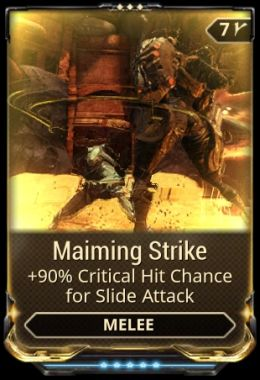 Maiming Strike mod